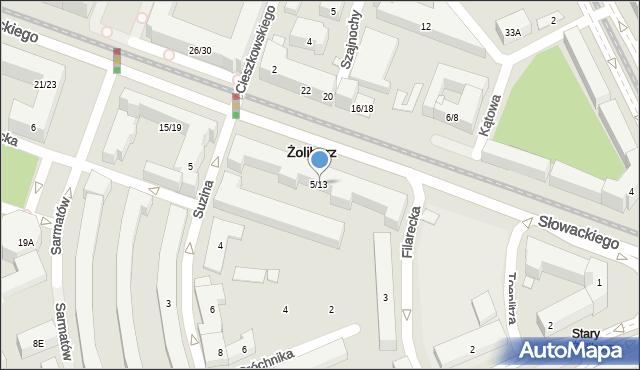 Warszawa, Słowackiego Juliusza, 5/13, mapa Warszawy