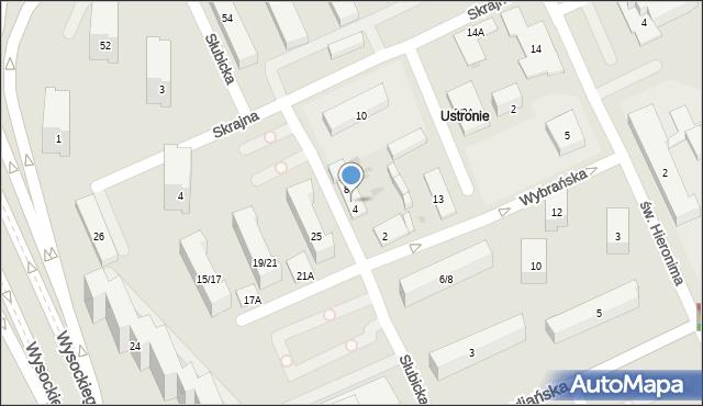 Warszawa, Słubicka, 6, mapa Warszawy