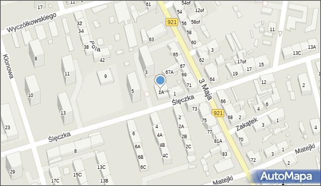 Zabrze, Ślęczka Pawła, 1A, mapa Zabrza