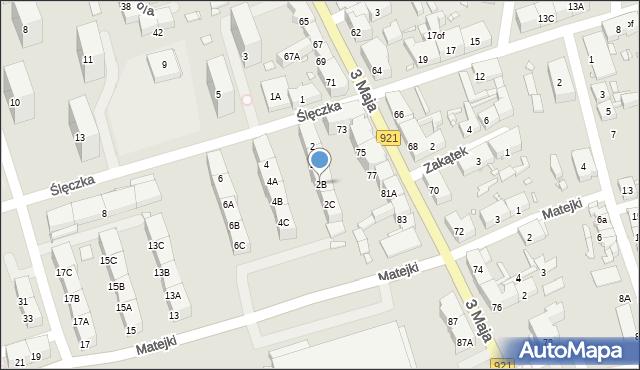 Zabrze, Ślęczka Pawła, 2B, mapa Zabrza