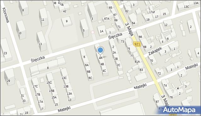Zabrze, Ślęczka Pawła, 4A, mapa Zabrza