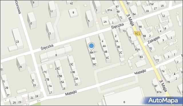 Zabrze, Ślęczka Pawła, 6A, mapa Zabrza