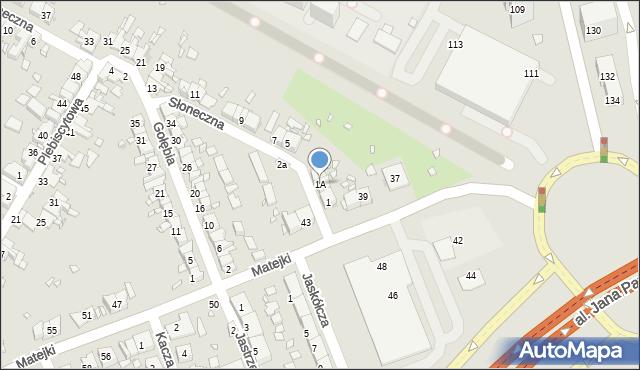 Zabrze, Słoneczna, 1A, mapa Zabrza