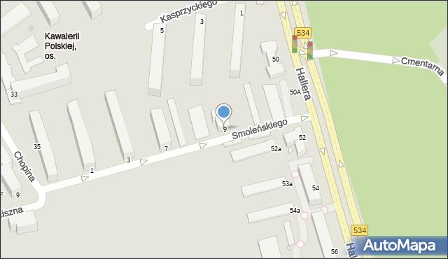 Grudziądz, Smoleńskiego Józefa, gen., 9, mapa Grudziądza