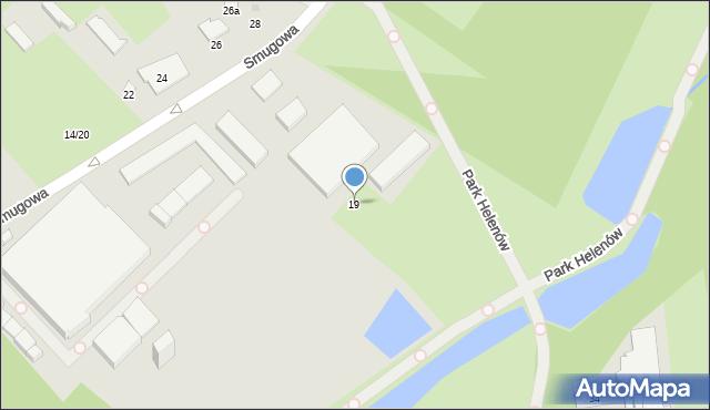 Łódź, Smugowa, 19, mapa Łodzi