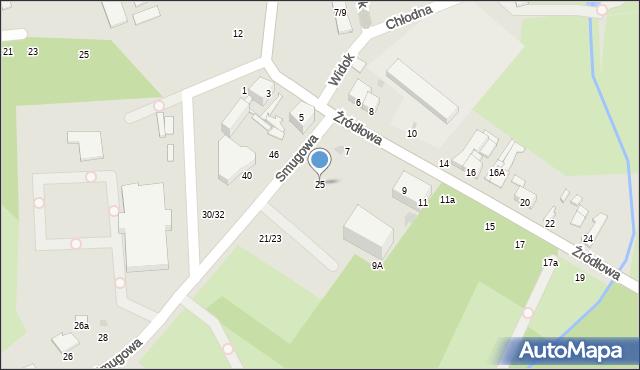 Łódź, Smugowa, 25, mapa Łodzi