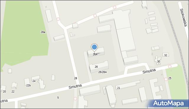Łódź, Smutna, 26A, mapa Łodzi