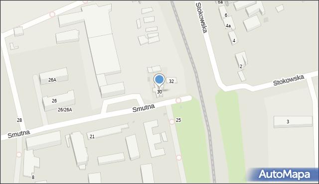 Łódź, Smutna, 30, mapa Łodzi