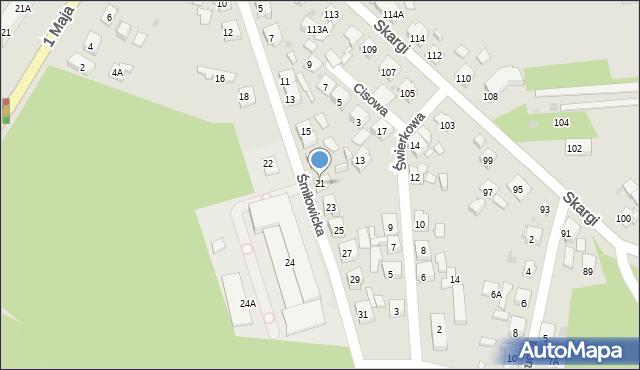 Ruda Śląska, Śmiłowicka, 21, mapa Rudy Śląskiej