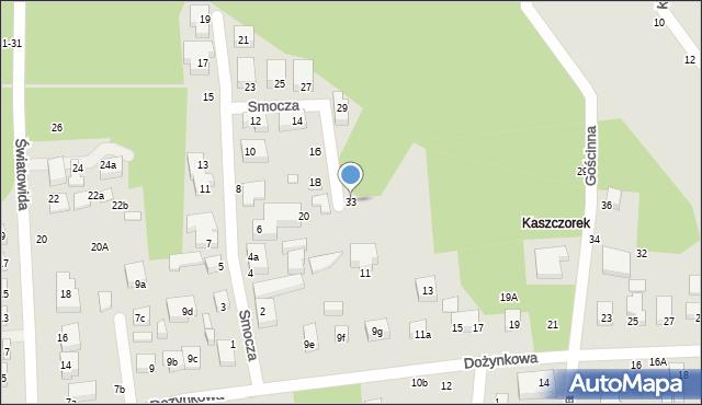 Toruń, Smocza, 33, mapa Torunia