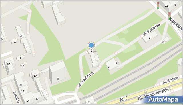 Warszawa, Smolna, 6, mapa Warszawy