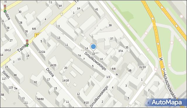 Warszawa, Smulikowskiego Juliana, 12, mapa Warszawy