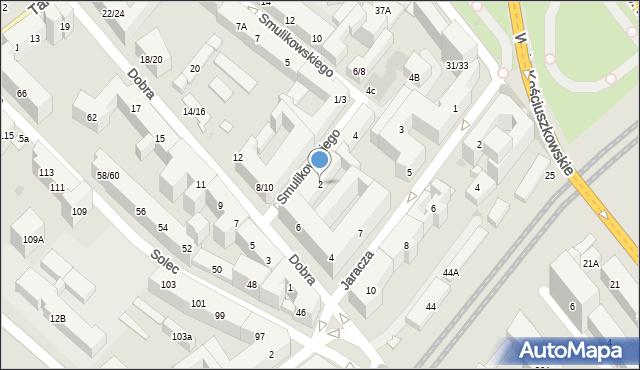 Warszawa, Smulikowskiego Juliana, 2, mapa Warszawy