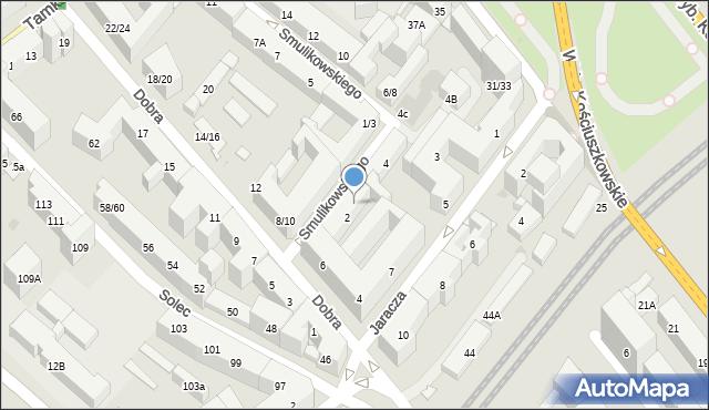 Warszawa, Smulikowskiego Juliana, 2A, mapa Warszawy
