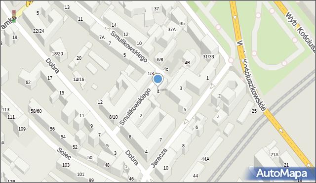 Warszawa, Smulikowskiego Juliana, 4, mapa Warszawy
