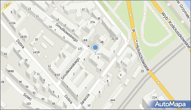 Warszawa, Smulikowskiego Juliana, 4A, mapa Warszawy