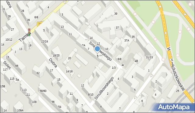 Warszawa, Smulikowskiego Juliana, 5, mapa Warszawy
