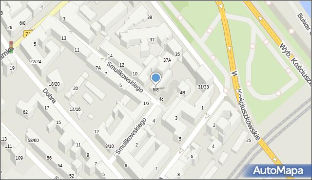 Warszawa, Smulikowskiego Juliana, 6/8, mapa Warszawy