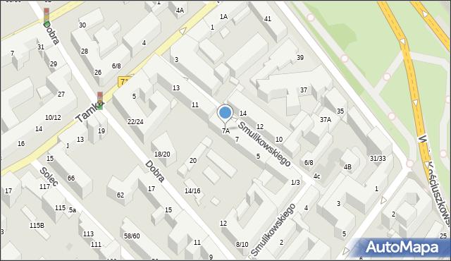 Warszawa, Smulikowskiego Juliana, 7A, mapa Warszawy