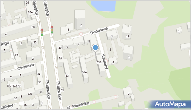 Warszawa, Smetany Bedricha, 3, mapa Warszawy