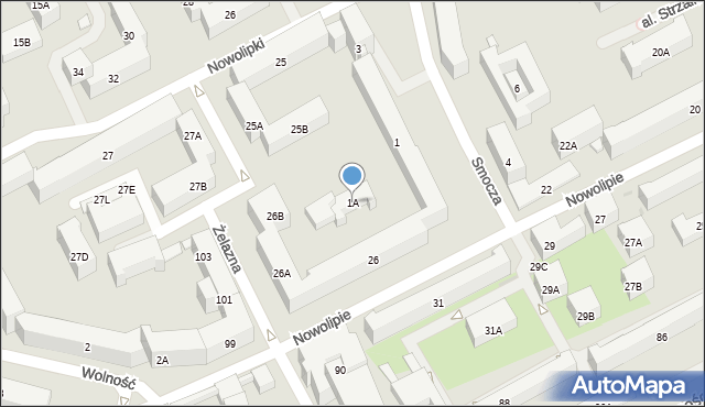 Warszawa, Smocza, 1A, mapa Warszawy