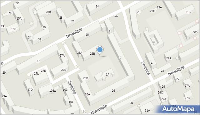 Warszawa, Smocza, 9, mapa Warszawy