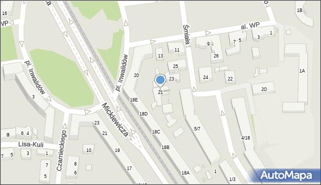 Warszawa, Śmiała, 21, mapa Warszawy