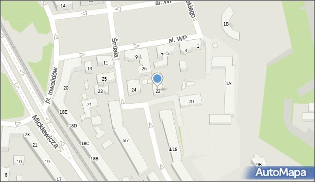 Warszawa, Śmiała, 22, mapa Warszawy