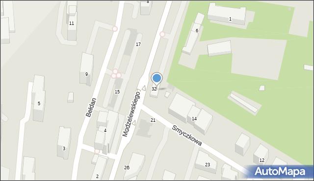 Warszawa, Smyczkowa, 16, mapa Warszawy