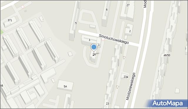 Warszawa, Smoluchowskiego Mariana, 1A, mapa Warszawy
