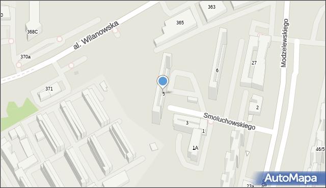 Warszawa, Smoluchowskiego Mariana, 5, mapa Warszawy