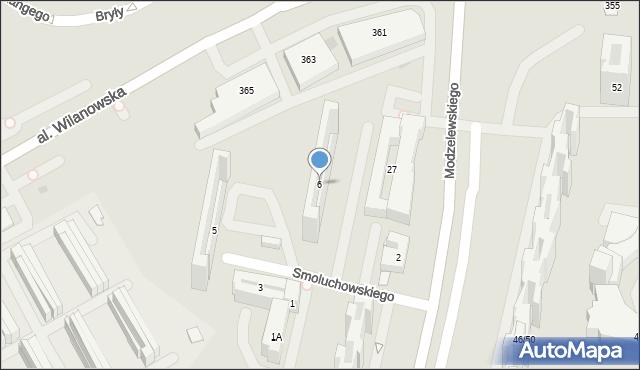 Warszawa, Smoluchowskiego Mariana, 6, mapa Warszawy