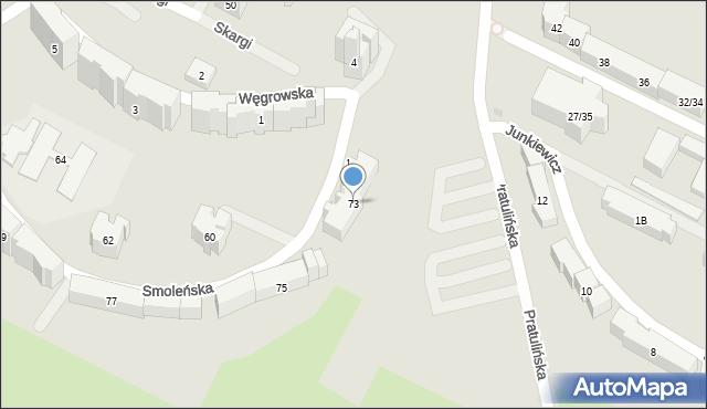 Warszawa, Smoleńska, 73, mapa Warszawy