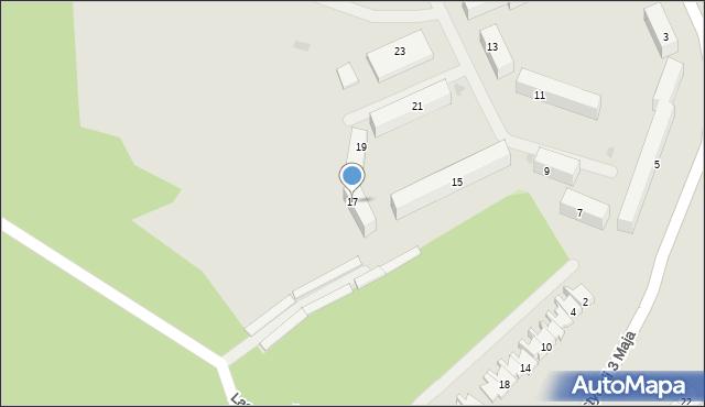 Grudziądz, Śniadeckich, 17, mapa Grudziądza