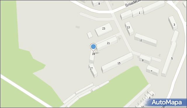 Grudziądz, Śniadeckich, 19, mapa Grudziądza