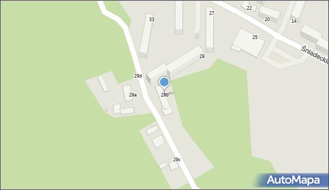 Grudziądz, Śniadeckich, 29b, mapa Grudziądza