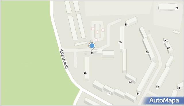 Grudziądz, Śniadeckich, 48, mapa Grudziądza