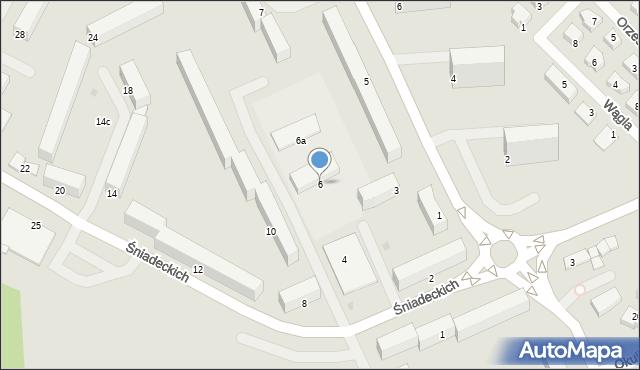 Grudziądz, Śniadeckich, 6, mapa Grudziądza