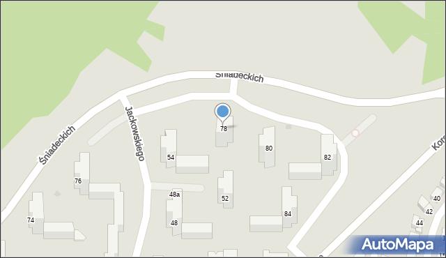 Grudziądz, Śniadeckich, 78, mapa Grudziądza