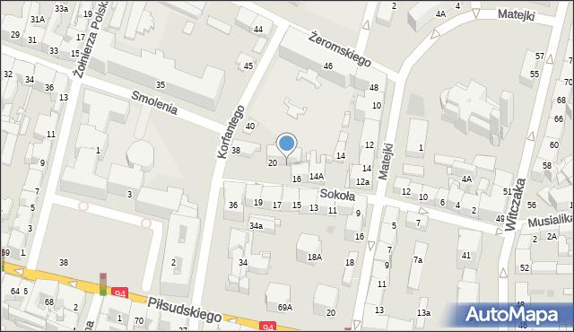 Bytom, Sokoła, 18, mapa Bytomia