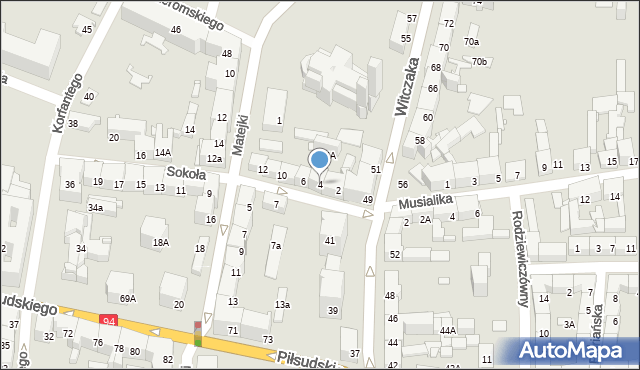 Bytom, Sokoła, 4, mapa Bytomia