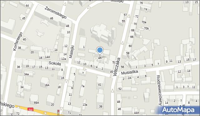 Bytom, Sokoła, 4A, mapa Bytomia