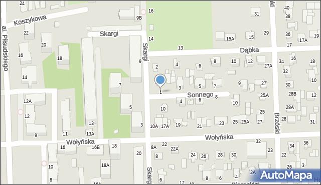 Chełm, Sonnego Stanisława, ks., 1, mapa Chełma