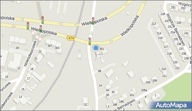 Gdynia, Sopocka, 1, mapa Gdyni