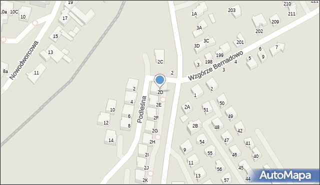 Gdynia, Sopocka, 2D, mapa Gdyni