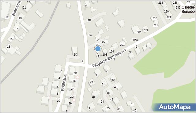 Gdynia, Sopocka, 3, mapa Gdyni