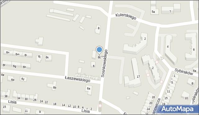 Grudziądz, Sosnkowskiego Kazimierza, gen., 6c, mapa Grudziądza