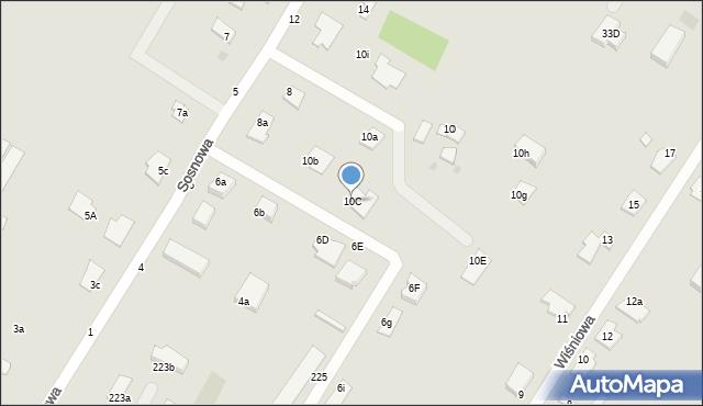 Grudziądz, Sosnowa, 10C, mapa Grudziądza