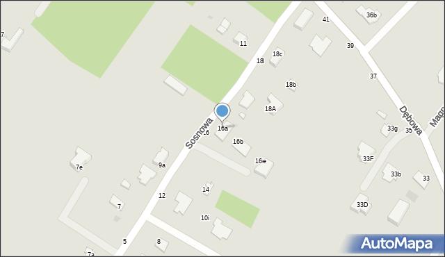 Grudziądz, Sosnowa, 16a, mapa Grudziądza
