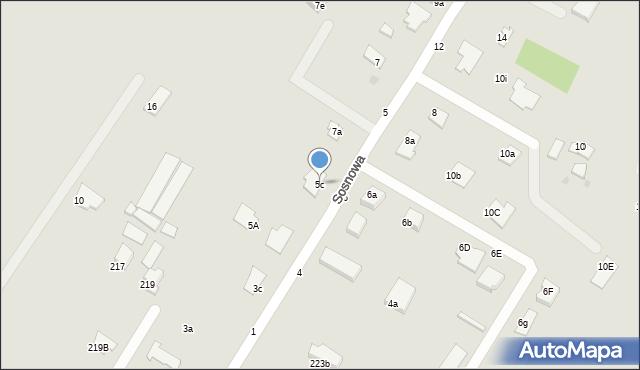 Grudziądz, Sosnowa, 5c, mapa Grudziądza
